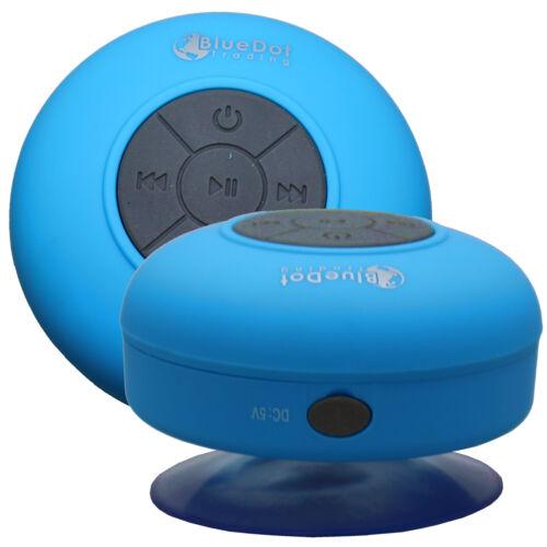 Blue Waterproof Wireless Bluetooth Mini Shower Speaker for HTC LG G6 Samsung S8