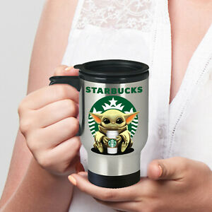 Starbucks Baby Yoda Star Wars Cute Yoda Starbucks Travel Coffee Mug Gift