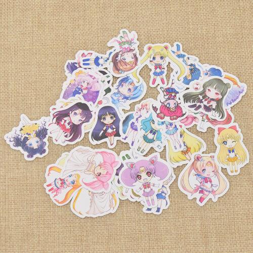 1 Set Sailor Moon Sticker Scrapbooking Paper Kawaii Cartoon Characters Supplies