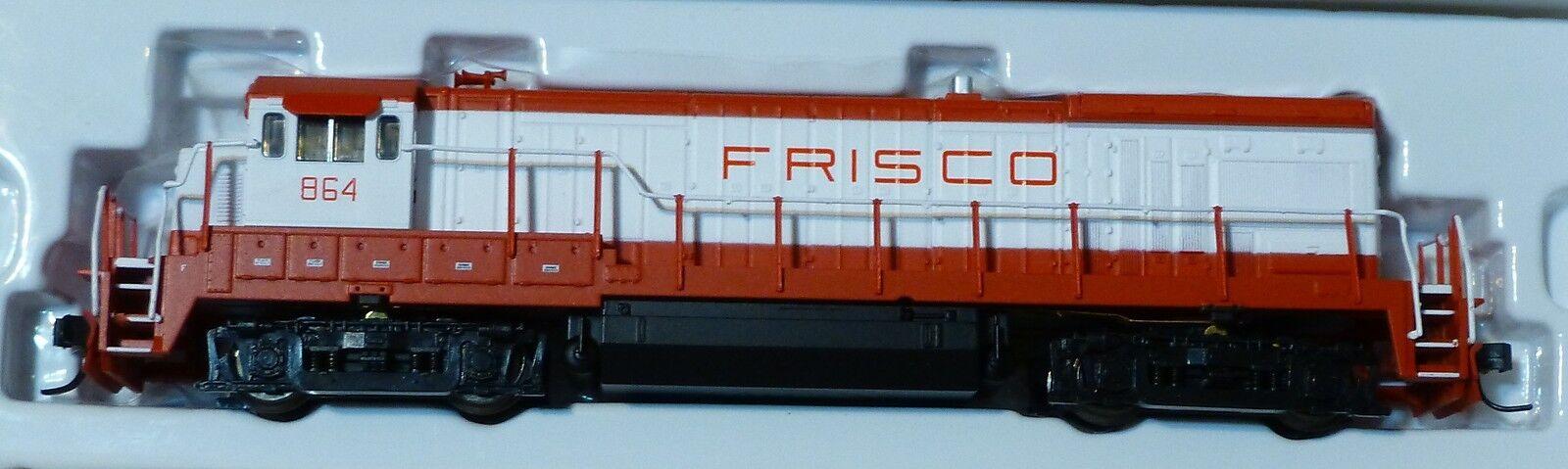 Atlas N Diesel GE B30-7 Powered -- Frisco (red, white)  DC
