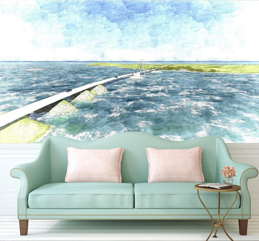 3D Mare Onda 4876 Parete Murale Foto Carta da parati immagine sfondo muro stampa