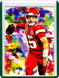 2021 Patrick Mahomes Kansas City Chiefs 1/1 Art ACEO Print Card By:Q