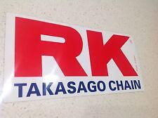 RK CHAIN MOTO CROSS MOTORCYCLE RACING STICKER BIG 300mm, HONDA SUZUKI KAWASAKI