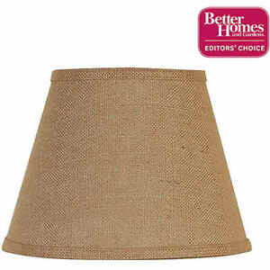 Better Homes and Gardens Accent Lamp Shade, Burlap Table Lamps Only Rustic NEW