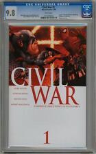 CIVIL WAR #1 FIRST PRINT CGC 9.8 MARVEL COMICS CAPTAIN AMERICA 3 MOVIE