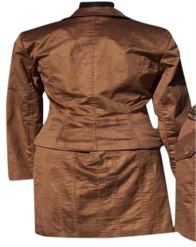 10 Nwt Jakke Cache 4 Ny 6 Lined Suit Brown Thin 178 0 Størrelse Cord Top 12 8 2 wXWqT6X4F