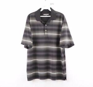 Roundtree-amp-Yorke-Performance-Mens-Large-Striped-Short-Sleeve-Golf-Polo-Shirt