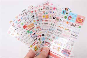 Cute-6-Sheets-DIY-Word-Expression-Diary-Album-Sticker-Calendar-Card-Scrapbooking