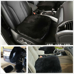 Image Is Loading 5Pcs Long Fur Steering Wheel Cover Shifter