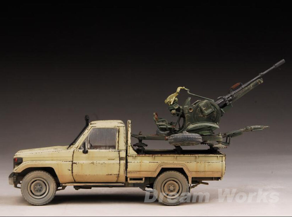 Award Winner Built Meng 1 35 35 35 Toyota Land Cruiser Pickup w ZU-23-2 Gun +PE cf2