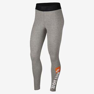 79ea38d4ec5124 Details about Nike Wmns NSW JDI Leggings New Grey White Black Orange  Sportswear AQ0245-063