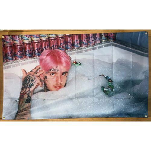 Lil Peep Bathtub Pink Hair Flag Banner Tapestry 3x5 Feet College Dorm
