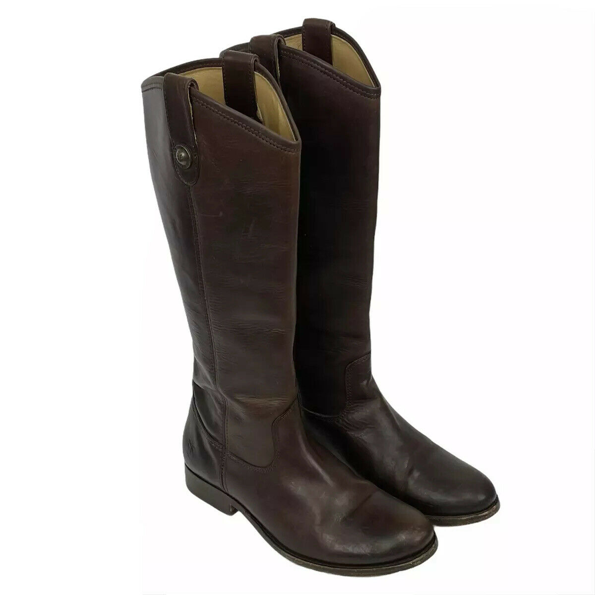 Frye Womens Boots Melissa Button Leather Dark Brown Riding 77167 Size 6.5 M