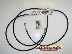 "2/"" FRONT BRAKE LINES LINE KIT ATV SMOKE YAMAHA RAPTOR 660 700 2001+ STREAMLINE"