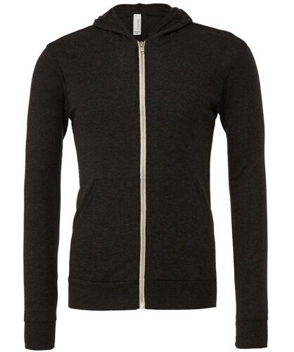 Bella+Canvas Unisex Fit Adults Lightweight Hoodie Zip Up Hooded Sweatshirt New