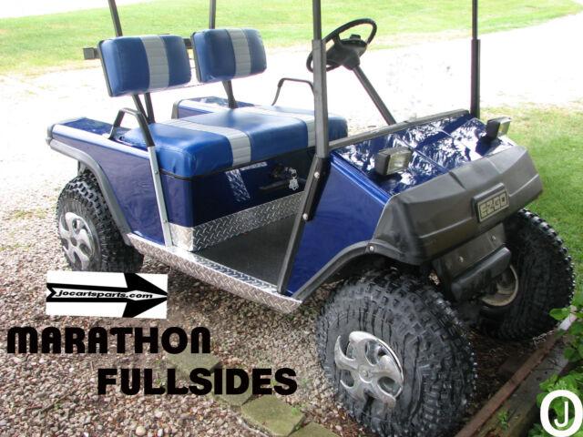 ezgo Marathon Golf Cart Diamond Plate FULLSIDE ROCKER PANELS 1976 to 94.5