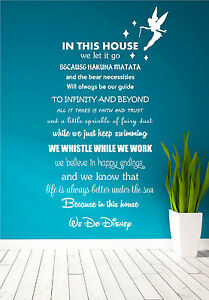Disney-Quote-Poem-Kids-Family-Tinkerbell-Wall-Art-Sticker-Decal-Mural-Transfer