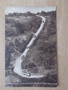 VINTAGE-POSTCARD-THE-STEEP-GRADIENT-OF-PORLOCK-HILL-SOMERSET