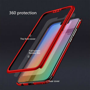 For Huawei Honor 8X / Max 360 Cover Front Back PC Tempered Glass Shockproof Case