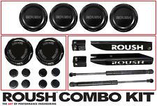 2011-2014 Mustang Roush Billet Black Engine & Strut Tower Caps & Hood Struts Kit