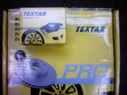 Textar Bremsscheiben und Bremsbeläge Nissan Note Renault Modus Satz für vorne