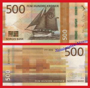 NORUEGA-NORWAY-500-Kroner-coronas-2018-SHIP-NEW-DESIGN-Pick-NEW-SC-UNC