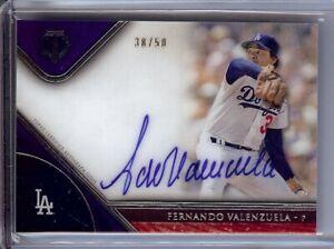 Fernando-Valenzuela-2017-Topps-Tribute-Purple-Auto-Autograph-Dodgers-FV-38-50