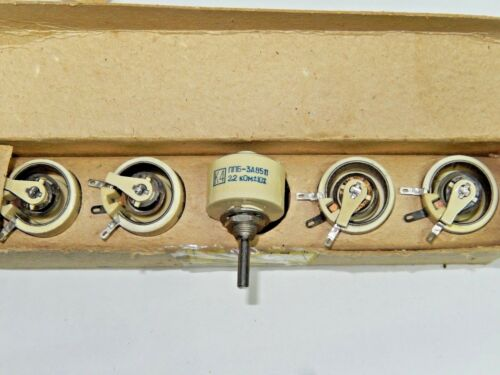 2 x WIREWOUND  PPB-3A  2.2K ohm 3 Watt 10/% Ceramic Potentiometer  NOS//NIB