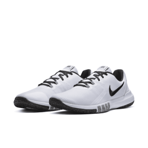 Nike-Flex-Control-4-Men-039-s-Training-Shoes-White-Black-Size-9