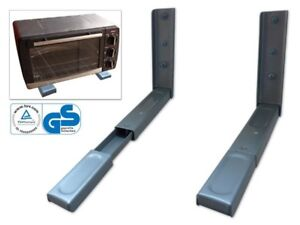mikrowelle halterung wandhalterung mikrowellenhalter microwellen k che ablage ebay. Black Bedroom Furniture Sets. Home Design Ideas