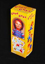 "Good Guy Chucky Doll Replica Miniature Halloween Prop Box 8.5"" Tall"