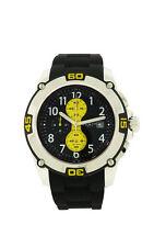 Elgin 1863 14501.7 Men's Yellow Black Analog Chronograph Date Silicone Watch