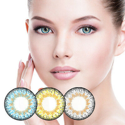 Cherie 3tone Blue Gray Light Brown Circle Lenses Colored contacts Cosmetic Lens