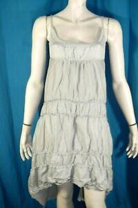 COP-COPINE-Taille-36-Superbe-robe-bretelles-grise-modele-FLASH-dress-kleid