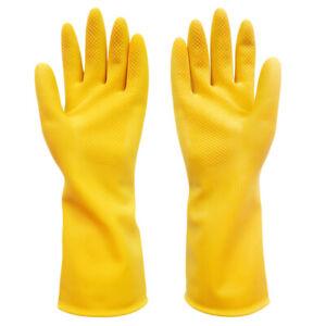 Industrielle-gelbe-Gummihandschuhe-die-oben-Handschuhe-waschen-S-M-L-Neu