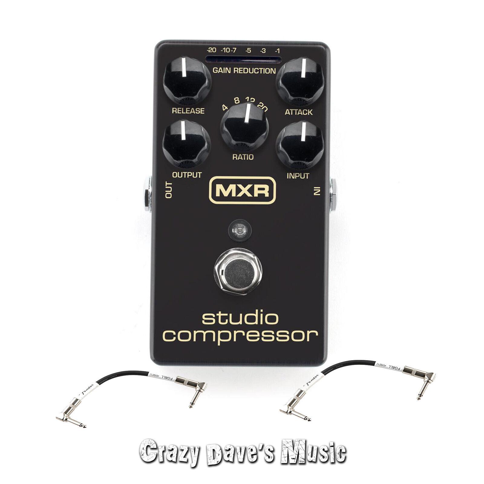 Dunlop MXR Studio Compressor M76 Guitar Pedal with 2 Patch Cables