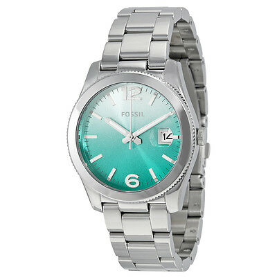 Fossil Perfect Boyfriend Green Gradient Dial Stainless Steel Ladies Watch ES3779