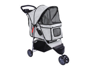 PET-STROLLER-DOG-STROLLER-CAT-STROLLER-PUPPY-STROLLER-PUSHCHAIR-TROLLEY-3-WHEELS