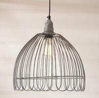 Vintage Wire Petal Cage Pendant Hanging Light/farmhouse, Country Lighting