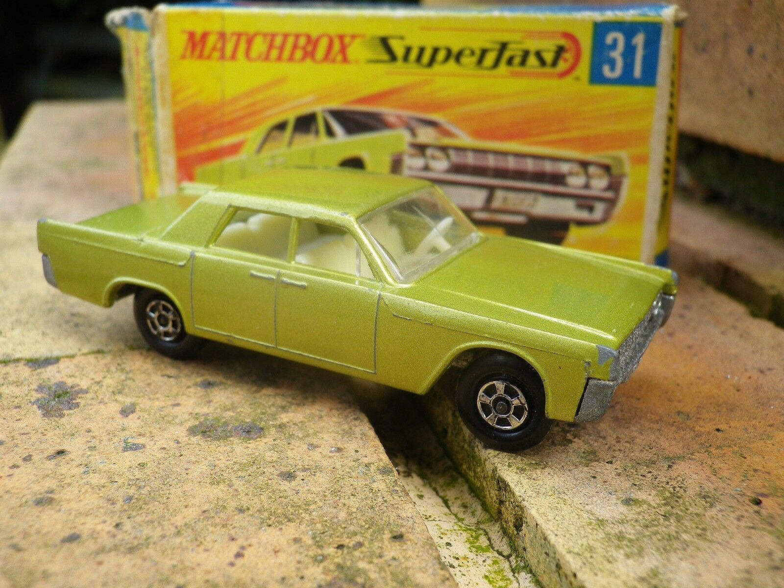 Matchbox lesney superfast 31 lincoln continental tres bon etat + original box