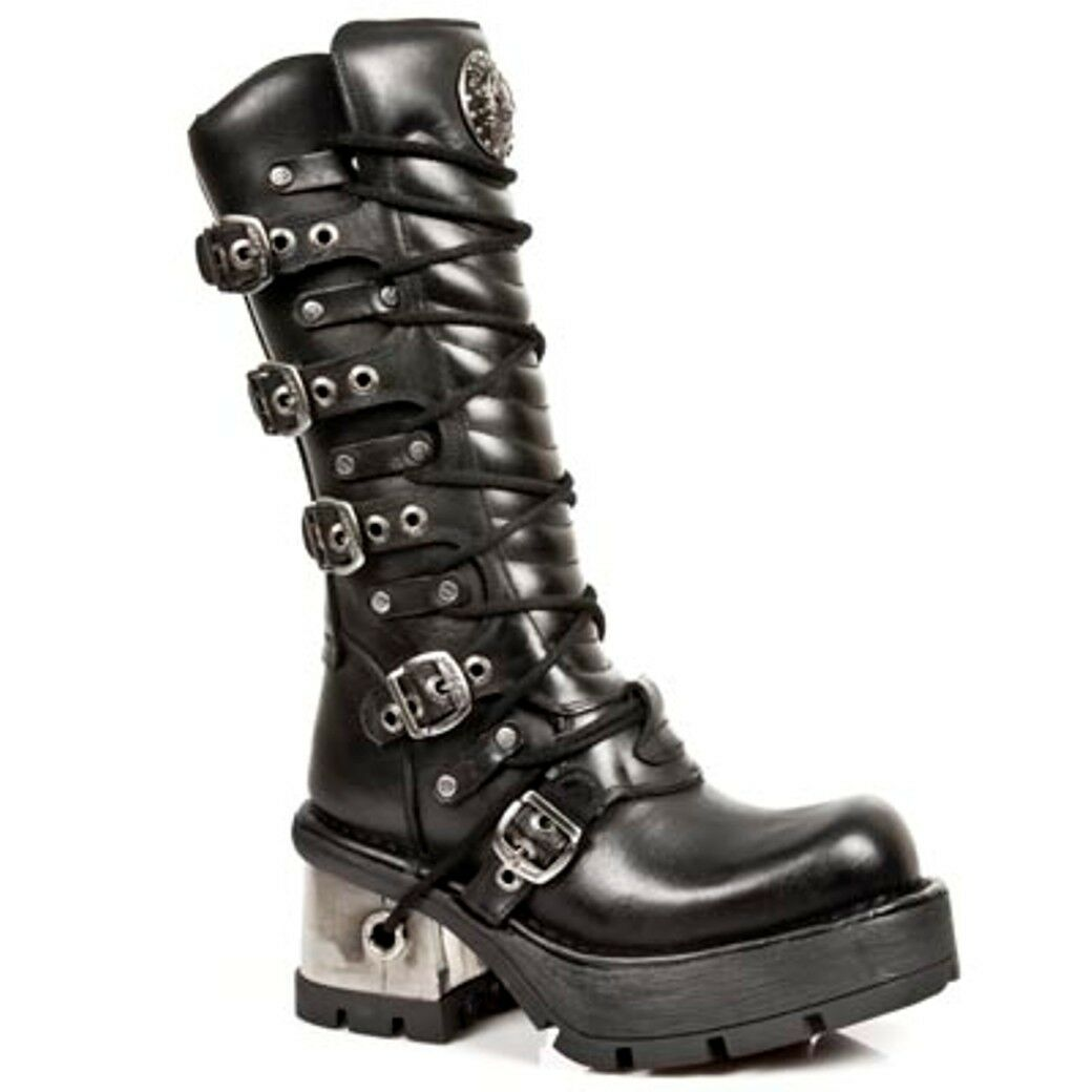 NEWROCK NR M.1016 S1 black Bottes - New Rock Boots - Unisexe