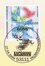 BRD 1999: EXPO 2000 in Hannover! Nr. 2042 mit Bonner Ersttagsstempel! 1A! 1611