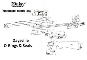 Daisy Grizzly Youthline 840 Pump Head O-Ring Seal Oring BB Gun Air Rifle Part