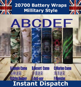 Military-Style-20700-PVC-Heat-Shrink-Wrap-Battery-covers-Various-Styles-5x-Wraps