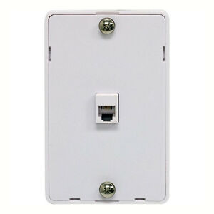eagle phone jack wall plate modular white surface mount 4 wall mount phone box wiring phone box wiring outside #4