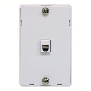 rj11 rj45 jack wiring eagle phone jack wall plate modular white surface mount 4 ... rj11 telephone jack wiring