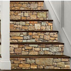UK 6pcs 3D Forest Stair Riser Staircase Sticker Mural Decal PVC Wallpaper New