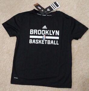 c7f3fa33cf18 NEW Boys Size 7 Large Adidas NBA Brooklyn Nets Climalite Practice S ...