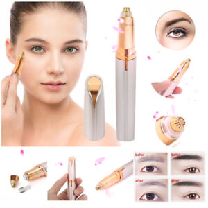 Electric-Eyebrow-Facial-Hair-Remover-Women-039-s-Brows-Painless-Trimmer-LED-Light-US