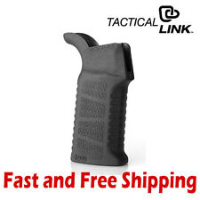 Tactical Link Ergonomic Polymer PDW Grip - Black (Aggressive Gripping Texture)